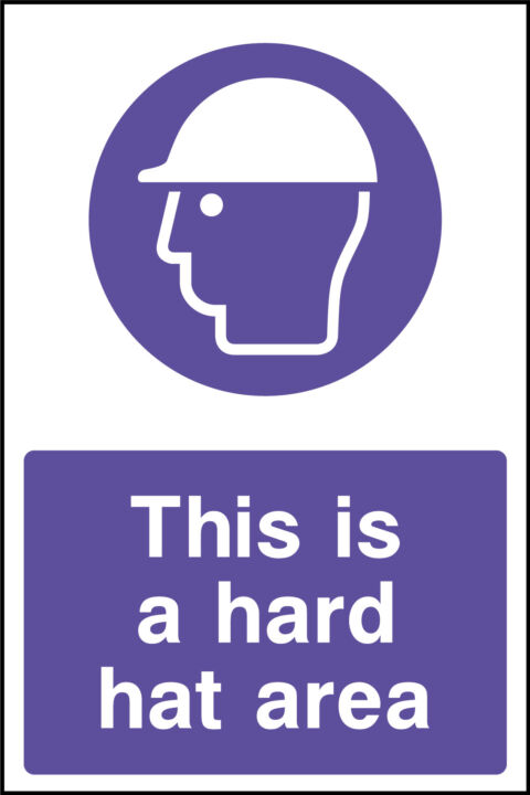 Hard hats area sign