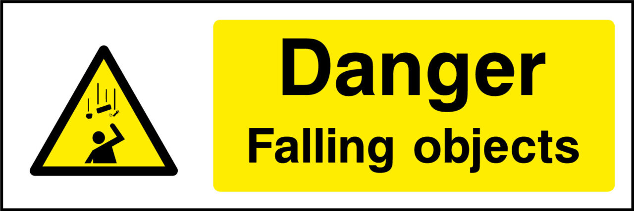 Falling objects sign