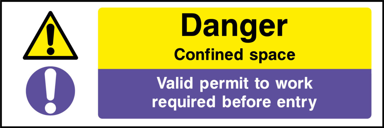 Confined space safety sign