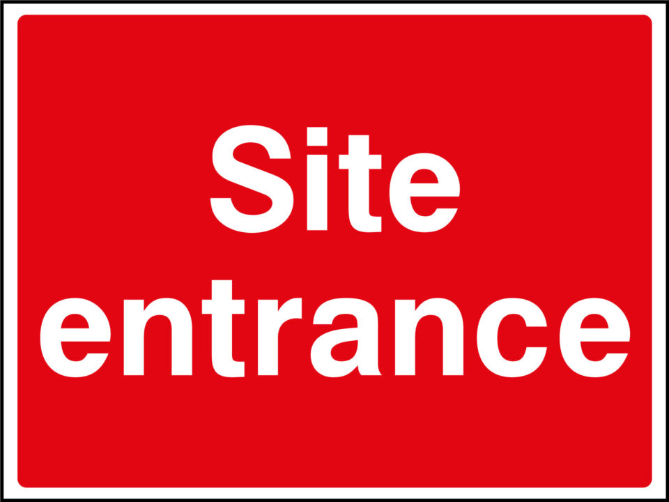 Site entrance sign