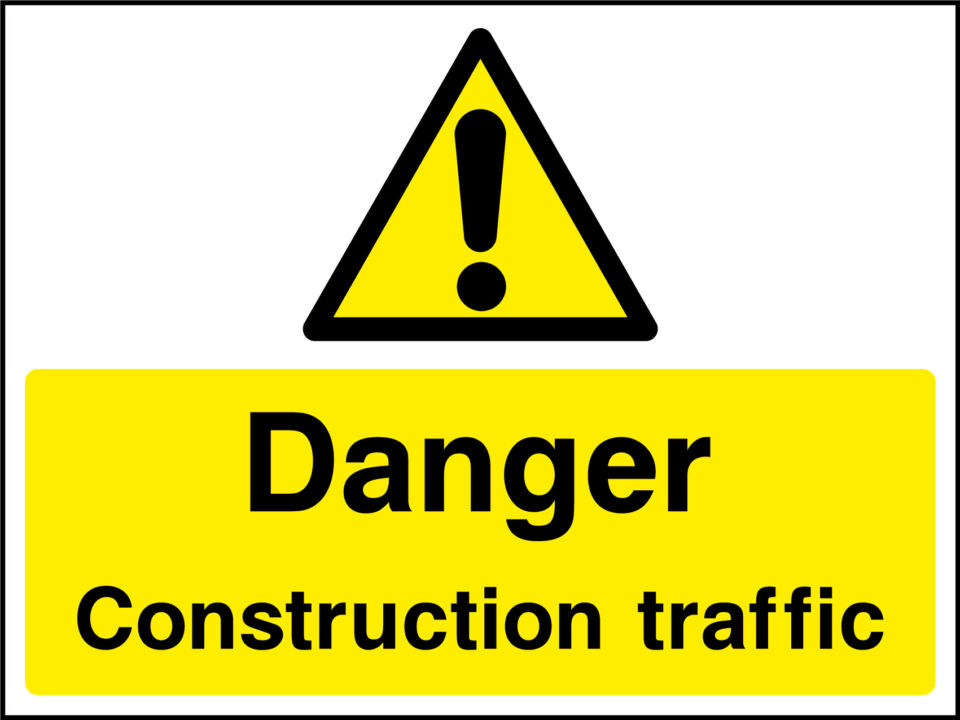 Construction traffic sign