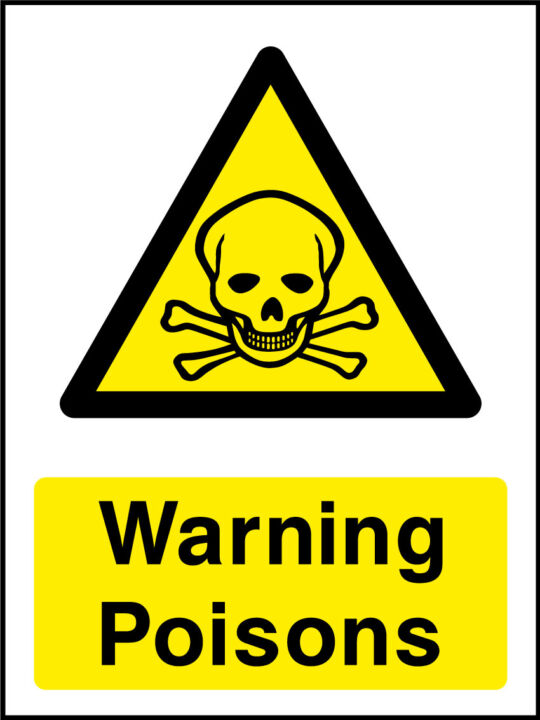 Warning poisons sign