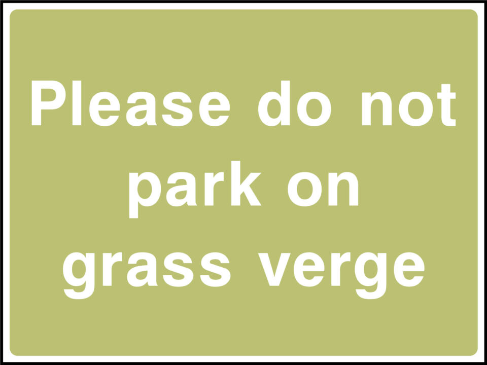 Grass verge parking sign
