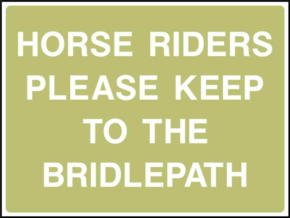 Keep to bridlepath sign