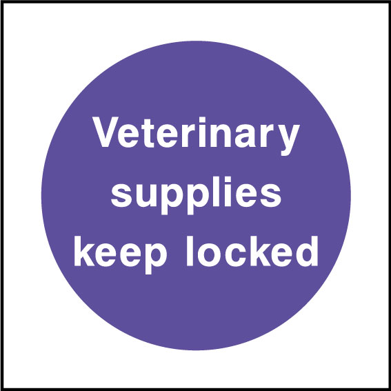 Veterinary supplies sign
