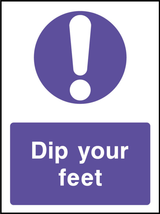 Dip you feet sign