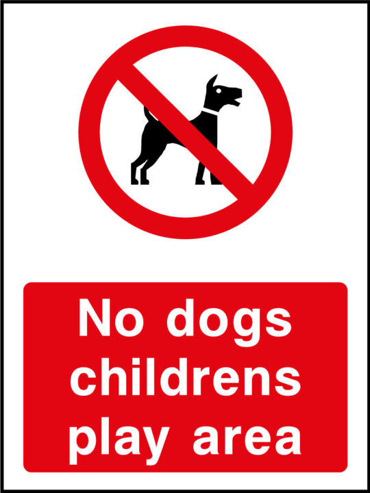 No dogs children's play area