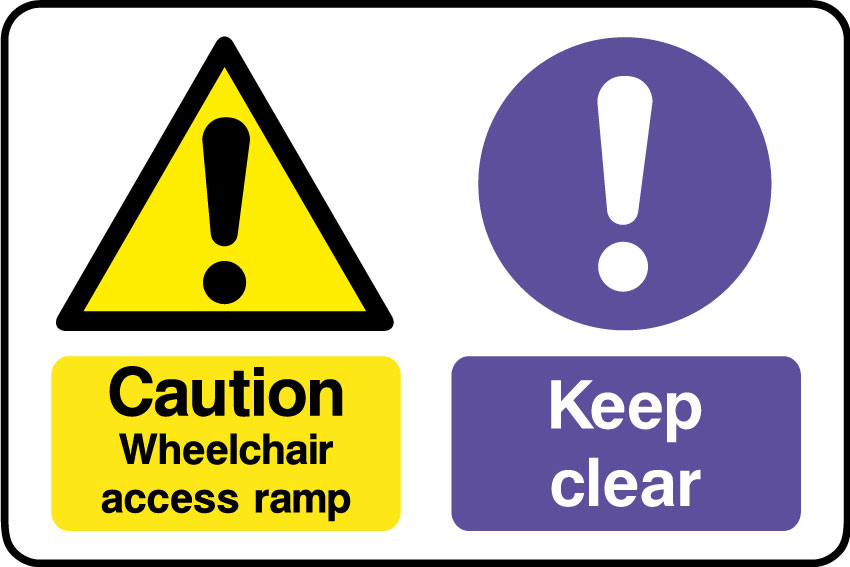 Wheelchair access do not block gangway sign