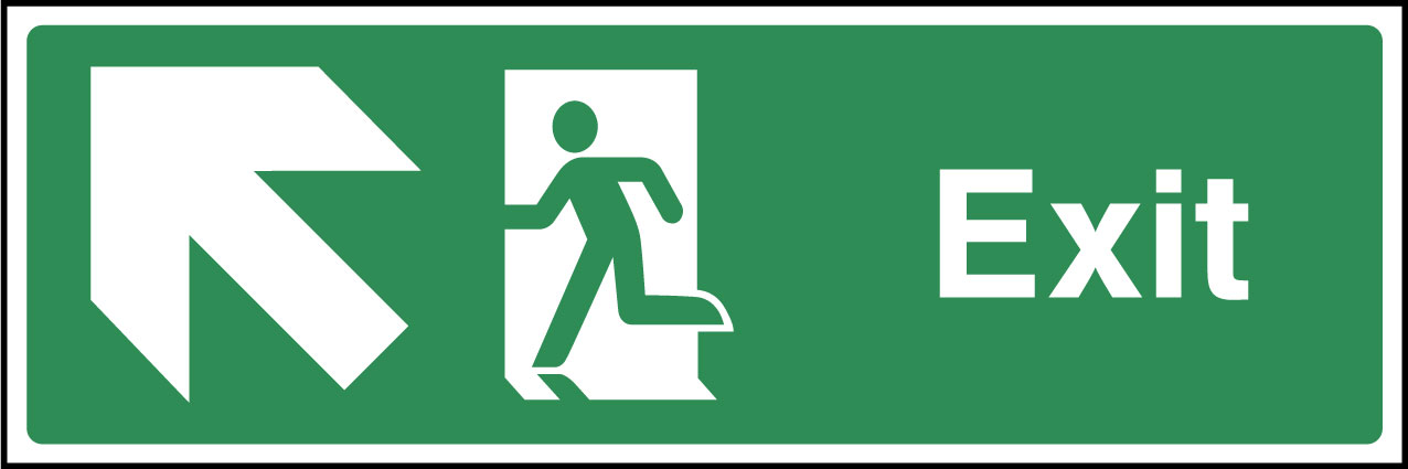 Exit up left sign