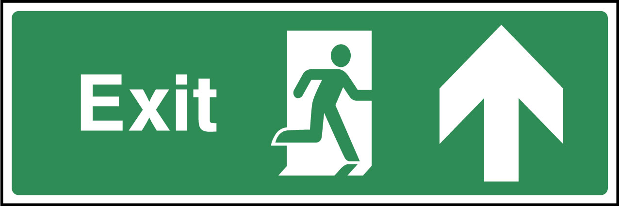 Exit ahead sign