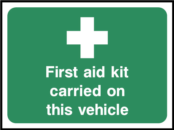 First aid carried on this vehicle