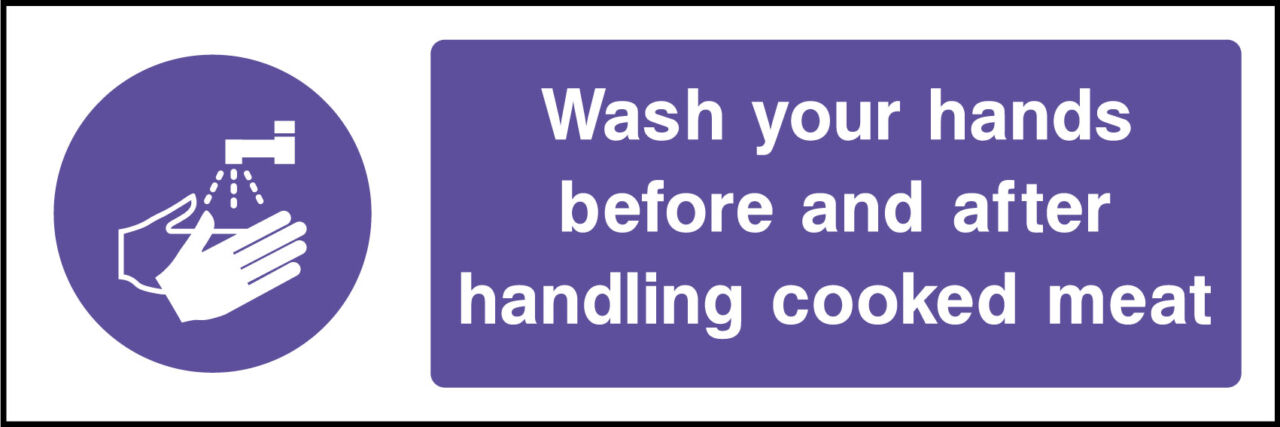 Wash hands sign