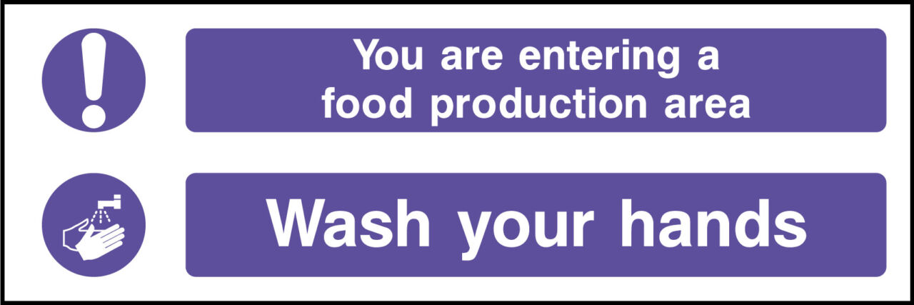 Food protection area sign