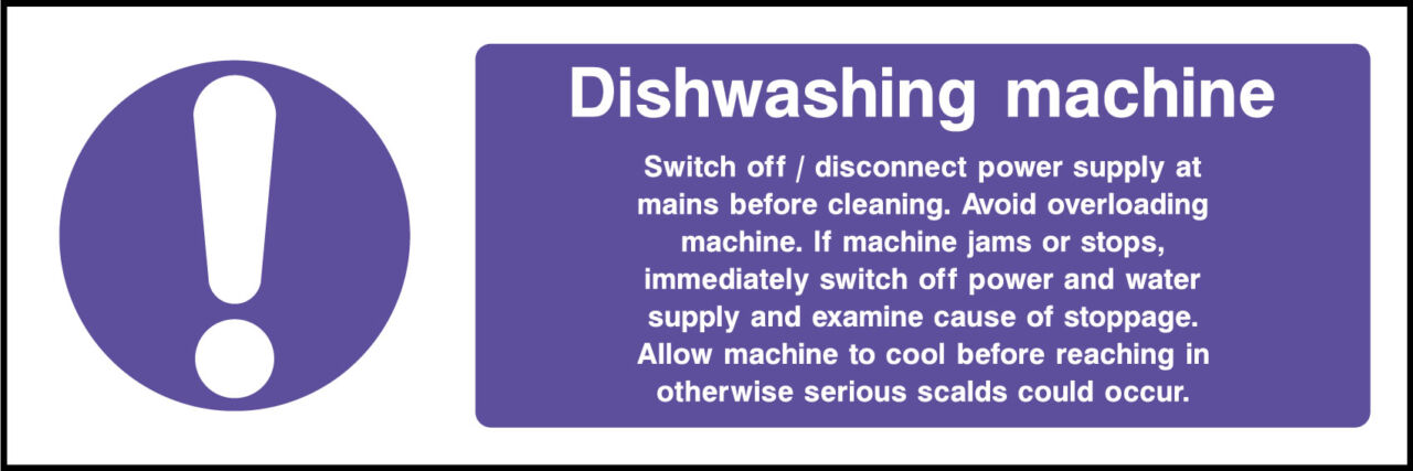 Dish washing machine sign