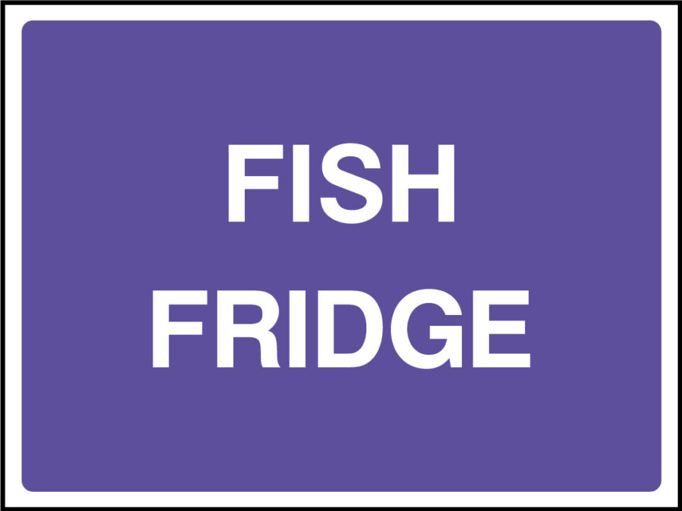 Fish fridge sign