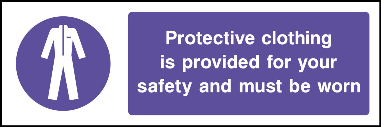 Protective clothing sign