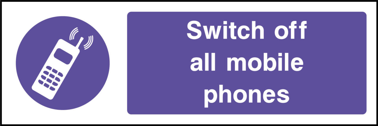 Switch off mobile phones sign