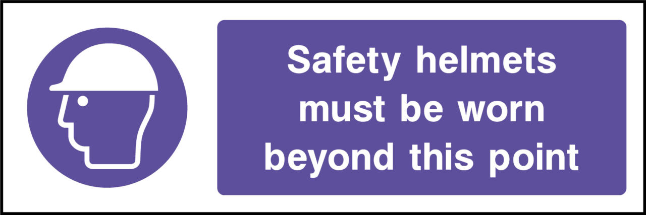 Safety helmet sign
