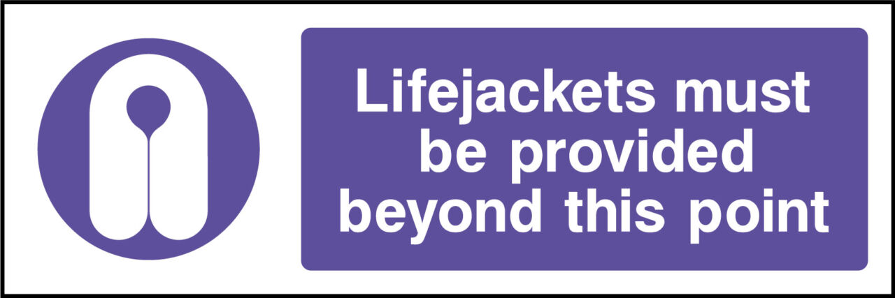 Lifejackets sign