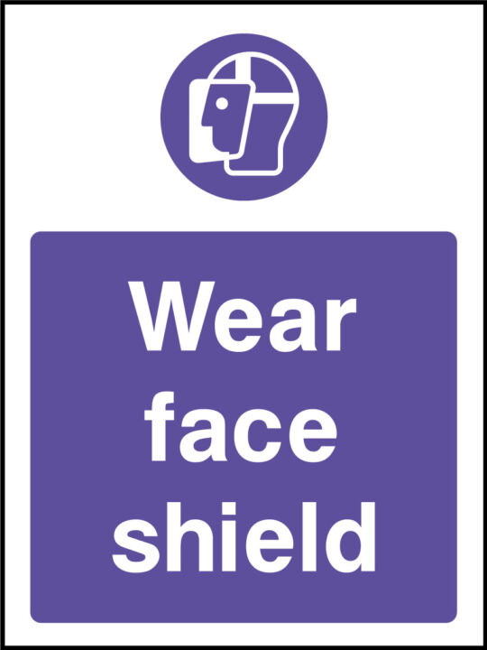 Face shield sign